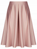 LaceShe Women's Simple Zipper Up At Behind Vintage Dress