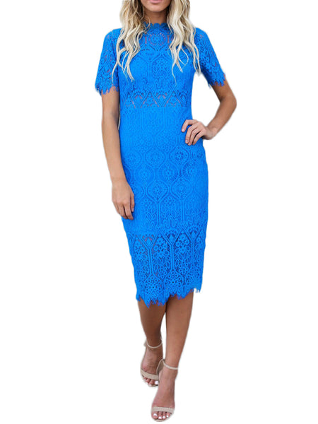 LaceShe Women's Gorgeous Slim Lace Dress with Back Zipper