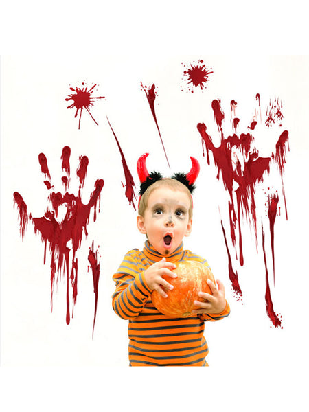 LaceShe Halloween Bloody Palm Decoration Wall Sticker