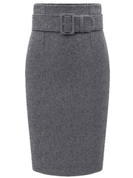 Laceshe Women's Plus Size Commuter Dressy Skirt
