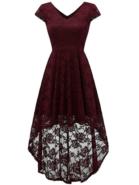LaceShe Women's Off Shoulder Floral Lace Dress