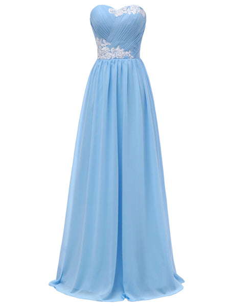 d6ec82af9b1 LaceShe Women s Sweetheart Lace-up Bridesmaid Dress