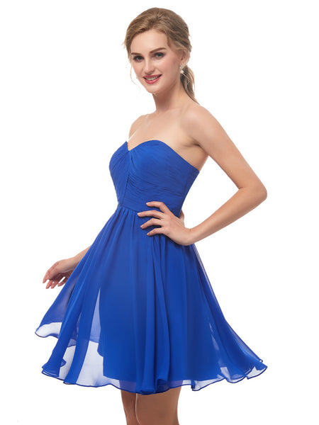 Laceshe Women's Gorgeous Strapless Sweetheart Bridesmaid Dress