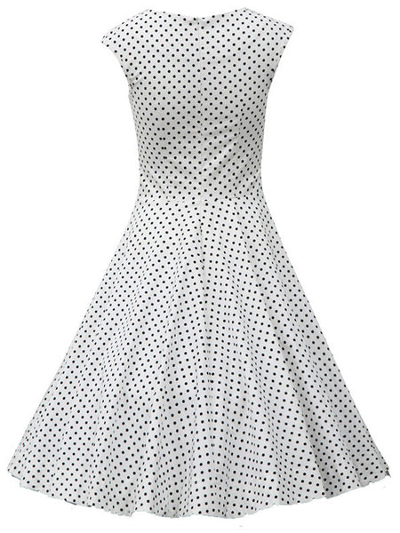 LaceShe Women Scoop Vintage Retro Cocktail Dress