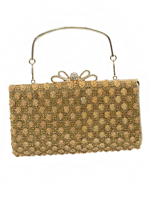 LaceShe Women's Handmade Shining Crystal Bag