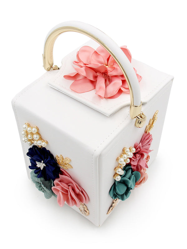 LaceShe Women's Cute Square Floral Handbag