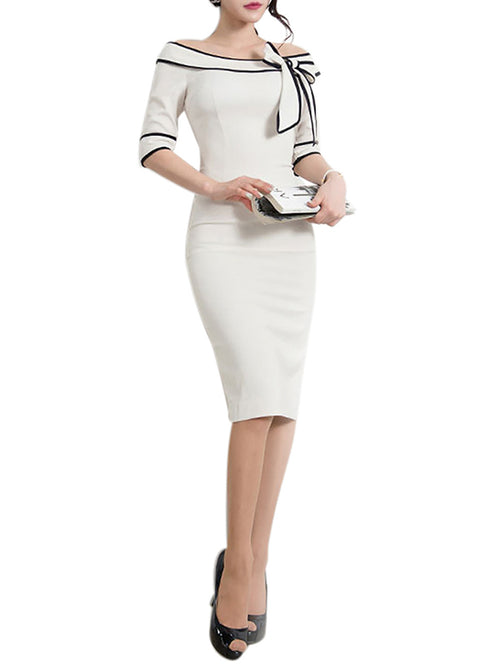 LaceShe Women's Half Sleeve Slim Pencil Dress