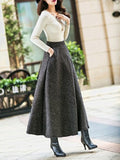 Laceshe Women's Vintage Chic Long Skirt