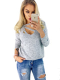 Laceshe Women's Deep V Neck Long Sleeve Sweater