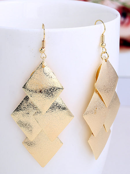 LaceShe Women Geometric Matte Multi-Layer Earrings