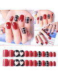 LaceShe Different Design Short Full Cover Fake Nails For Women And Girls