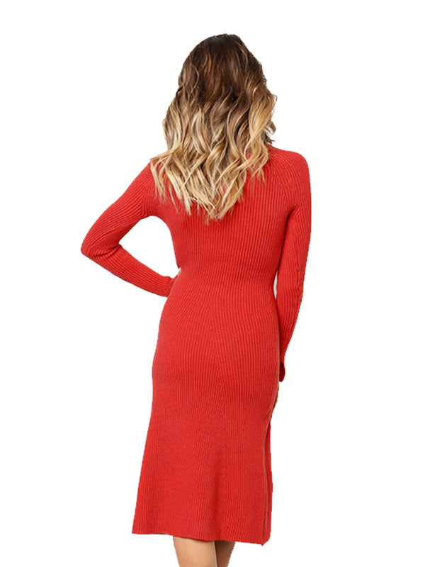 Laceshe Women's Fashion Long Sleeve Fall Winter Dress