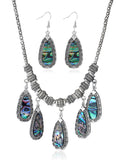 LaceShe Bohemian Style Earrings Necklace Set
