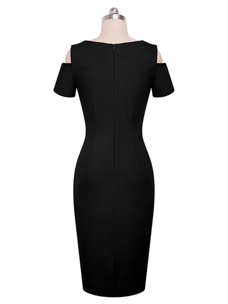 LaceShe Women's Short Sleeve Sexy Pencil Dress