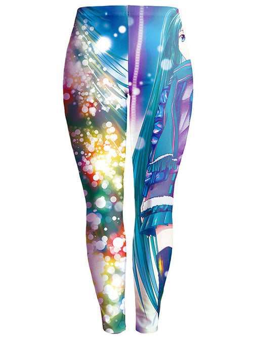 Laceshe Women's Fall Winter Christmas Theme Leggings
