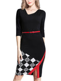LaceShe Women's Slim Half Sleeve Sheath Pencil Dress