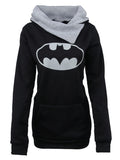 Laceshe Women's Chic Batman Top Tees Hoodie Sweatshirt