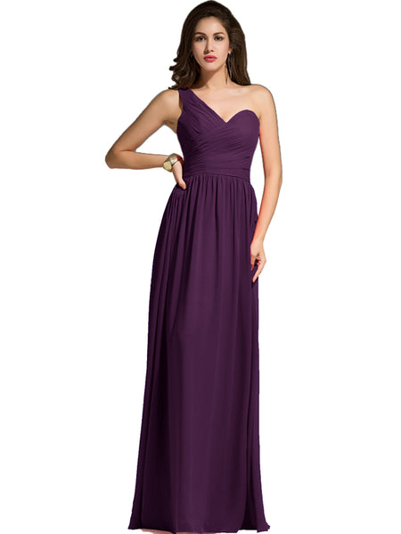 LaceShe Women's Floor Length Off Shoulder Bridesmaid Dress