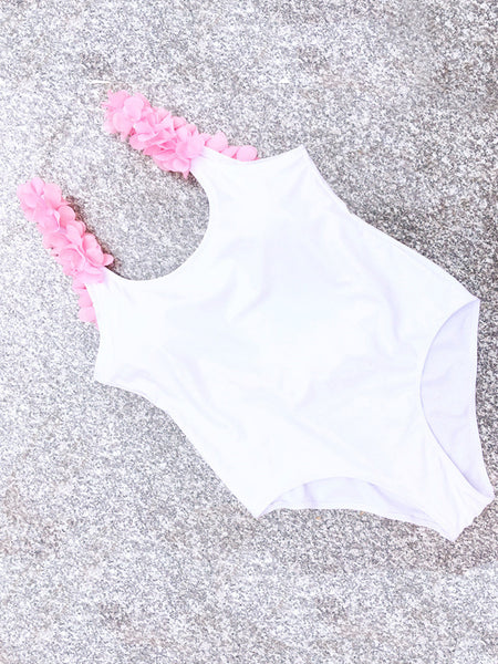 LaceShe Free To Fly Flowers One-piece Swimsuit