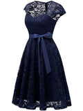 LaceShe Women's Sweetheart A-Line Lace Bridesmaid Dress