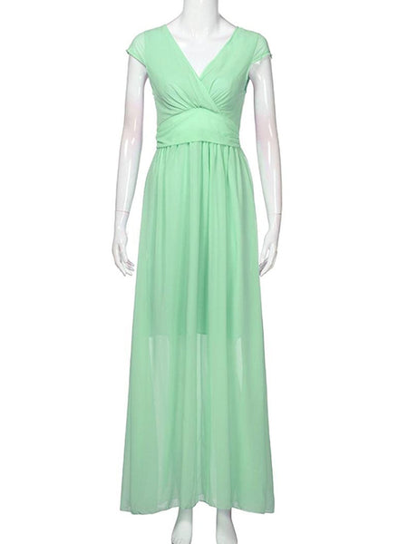 LaceShe Women's Elegant Chiffon Evening Party Long Dress