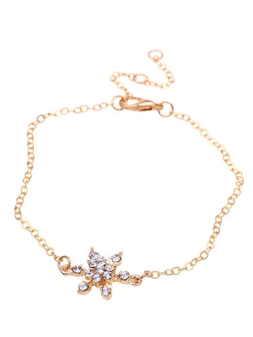 Laceshe Women's Christmas Fashion Snowflake Bracelet