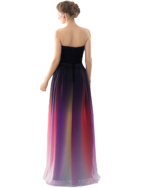 LaceShe Women's Stunning Strapless Long Bridesmaid Dress