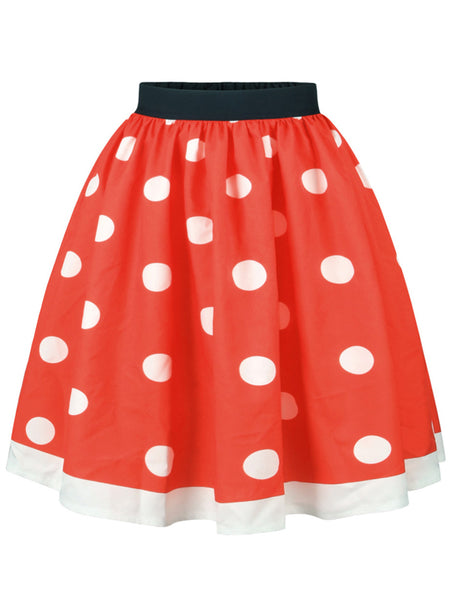 LaceShe Women's Lovely Red Skirts