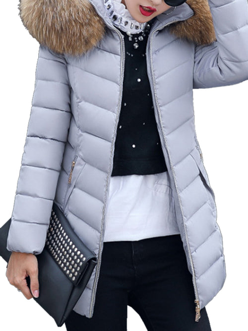 Laceshe Women's Fall Winter Puffer Down Jacket