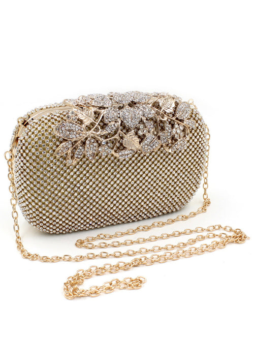 LaceShe Women's Luxurious Shining Crystal Handbag