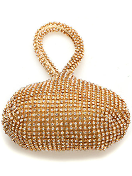 LaceShe Women's Diamond-Encrusted Soft Bag