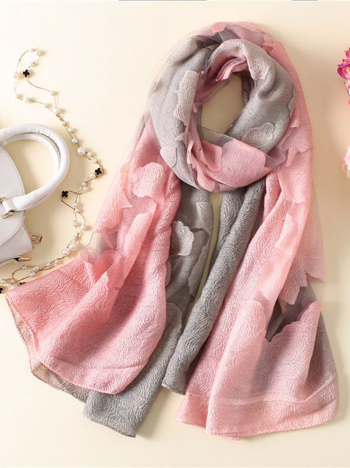 LaceShe Women's Multi-Color Stitching Scarf
