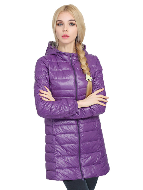 Laceshe Women's Hooded Plus Size Down Jacket