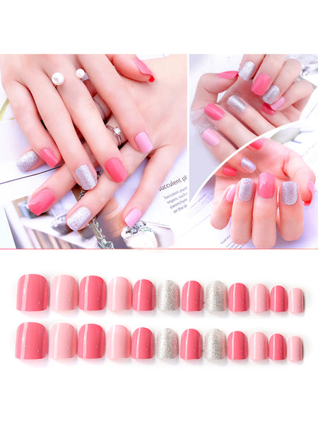 LaceShe Multi-Color Bride Full Cover False Nails