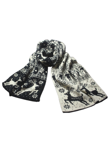 Laceshe Women's Christmas Theme Knitted Scarf