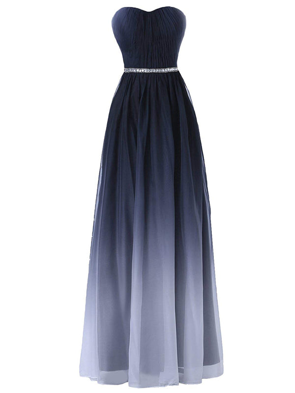7926a93c49a Laceshe Women s Ombre Strapless Sweetheart Bridesmaid Dress – LaceShe