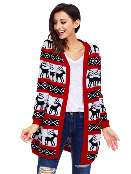 LaceShe Women's Christmas Cardigan Sweater