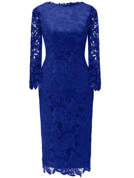 Laceshe Women's Sleeve Bodycon Sequin Evening Dress