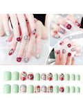 LaceShe Acrylic Cute Short Fake Nails Set