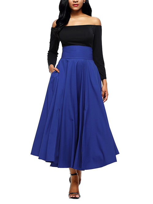 LaceShe Women's Multi-Color Big Swing Skirts