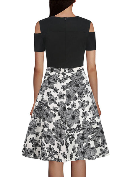 LaceShe Women's Casual Pockets Floral Dress