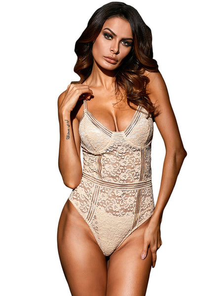 LaceShe Women's Sexy Strap Lace Floral Lingerie