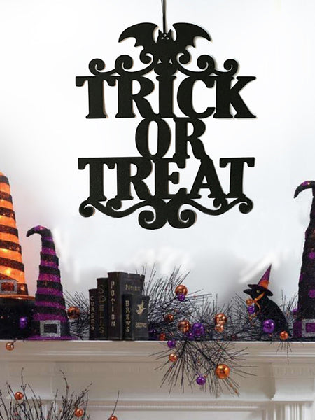 Laceshe Halloween Non-Woven Hanging Sign Decoration