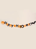 Laceshe Halloween Hanging Banner with Pumpkin and Bat