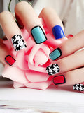 LaceShe Colorful Art Design False Nail Set