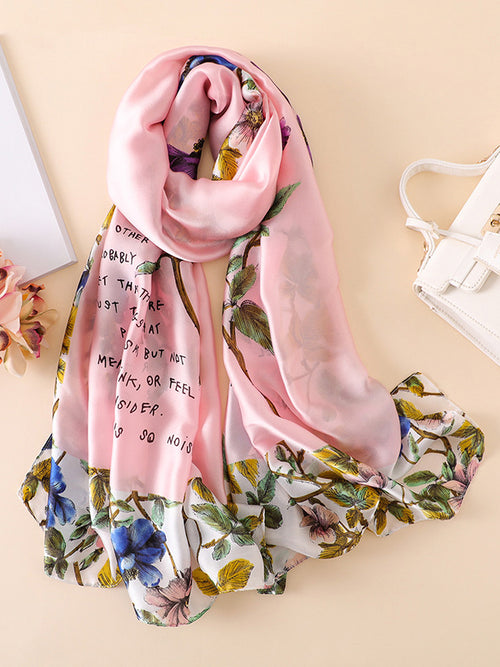 LaceShe Women's Classical Floral Scarf