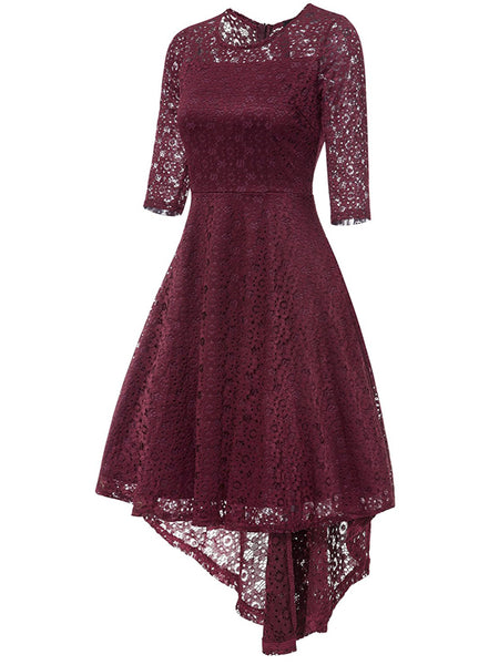 LaceShe Women's Ball Gown Cocktail Lace Dress