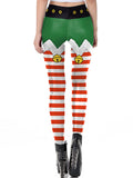 Laceshe Women's Chic Ugly Santa Christmas Costume Leggings