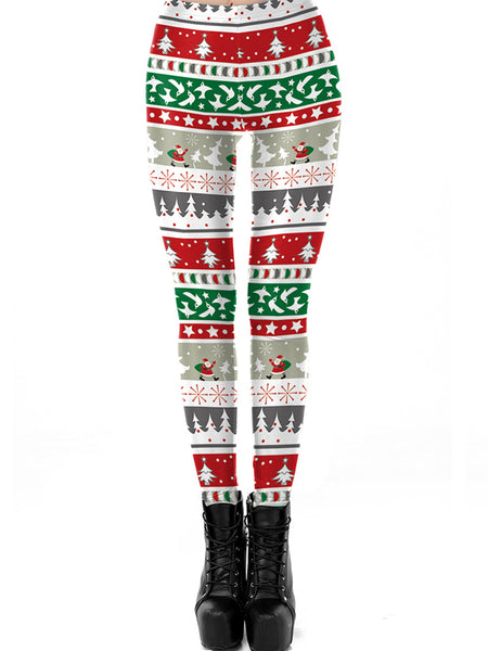 Laceshe Women's Christmas Party Costume Leggings