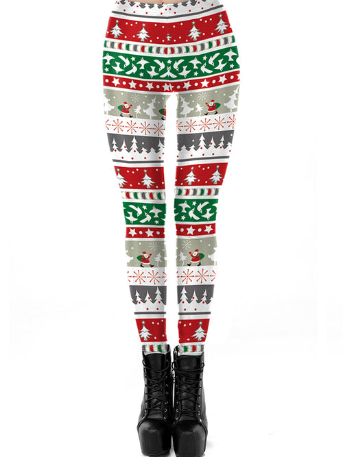 Laceshe Women's Fall Winter Christmas Party Costume Leggings